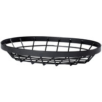 GET WB-961-MG Vector 9 inch x 6 inch Oval Metal Gray Wire Basket
