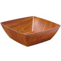 GET B-SQ-9-M Arbor 3 Qt. Square Faux Wood Polystyrene Bowl