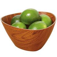 GET B-TR-6-M Arbor 1 Qt. Triangular Faux Wood Polystyrene Bowl