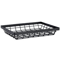 GET WB-971-MG Vector 9 inch x 7 inch Rectangular Metal Gray Wire Basket