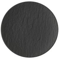 Villeroy & Boch 16-4074-2661 The Rock 6 1/4 inch Black Shale Coupe Flat Porcelain Plate - 6/Case