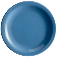 Syracuse China 903043909 Cantina 6 1/4 inch Blueberry Uncarved Porcelain Plate - 12/Case