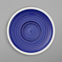 Villeroy & Boch 16-4067-1280 Artesano Ocean 6 11/16 inch Atlantic Blue Porcelain Saucer - 6/Case