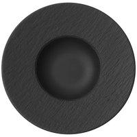 Villeroy & Boch 16-4074-2700 The Rock 11 1/4 inch x 5 1/2 inch Black Shale Deep Porcelain Plate - 6/Case