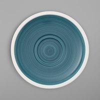 Villeroy & Boch 16-4068-1280 Artesano Ocean 6 11/16 inch Pacific Green Porcelain Saucer - 6/Case
