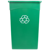 Continental 8322-2 23 Gallon Green Wall Hugger Recycling Trash Can