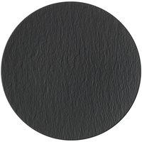 Villeroy & Boch 16-4074-2595 The Rock 12 1/2 inch Black Shale Coupe Flat Porcelain Plate - 6/Case