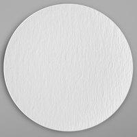 Villeroy & Boch 16-4077-2595 The Rock 12 1/2 inch White Glacier Coupe Flat Porcelain Plate - 6/Case