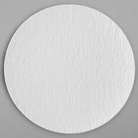 Villeroy & Boch 16-4077-2621 The Rock 11 1/4 inch White Glacier Coupe Flat Porcelain Plate - 6/Case