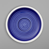 Villeroy & Boch 16-4067-1460 Artesano Ocean 5 inch Atlantic Blue Porcelain Saucer - 6/Case