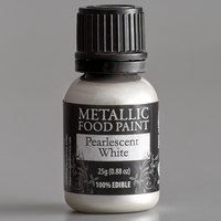 Renshaw Rainbow Dust 0.88 oz. Pearlescent White Metallic Food Paint