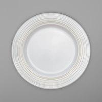 Villeroy & Boch 16-4008-2811 Stella Vogue 13 inch White Bone and Gold Porcelain Platter - 6/Case
