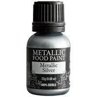 Renshaw Rainbow Dust 0.88 oz. Silver Metallic Food Paint