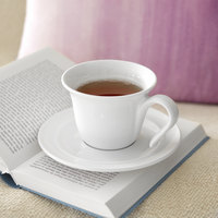 Villeroy & Boch 16-4036-4870 Neufchatel Care 10.75 oz. White Porcelain Mug - 6/Case