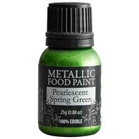 Renshaw Rainbow Dust 0.88 oz. Pearlescent Spring Green Metallic Food Paint