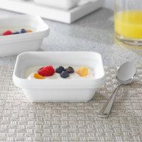 Villeroy & Boch 16-4036-3900 Neufchatel Care 7 1/2 oz. White Rectangular Porcelain Bowl - 6/Case