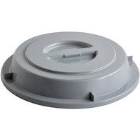 Schonwald 9441250-10113 Donna Senior 9 1/2 inch Gray PBT Plastic Round Plate Cover - 6/Case