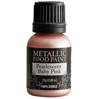 Renshaw Rainbow Dust 0.88 oz. Pearlescent Baby Pink Metallic Food Paint