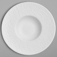 Villeroy & Boch 16-4077-2700 The Rock 11 1/4 inch x 5 1/2 inch White Glacier Deep Porcelain Plate - 6/Case
