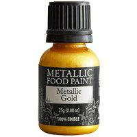Renshaw Rainbow Dust 0.88 oz. Gold Metallic Food Paint