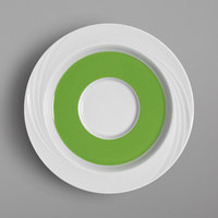 Schonwald 9187130-62942 Donna Senior 6 5/8 inch White and Light Green Porcelain Special Saucer - 12/Case