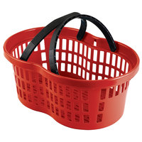 Garvey BSKT-57000 20 inch x 13 3/4 inch x 10 3/4 inch Red Market Shopping Flexi-Basket - 12/Pack