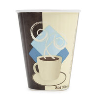 Dart Solo IC8-J7534 Duo Shield 8 oz. Poly Paper Hot Cup - 1000 / Case