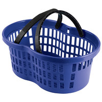 Garvey BSKT-57001 20 inch x 13 3/4 inch x 10 3/4 inch Blue Market Shopping Flexi-Basket - 12/Pack