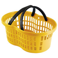 Garvey BSKT-56004 20 inch x 13 3/4 inch x 8 inch Yellow Market Shopping Flexi-Basket - 12/Pack