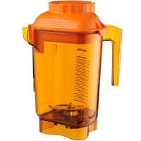 Vitamix 58990 Advance 48 oz. Orange Deluxe Tritan Copolyester Blender Jar with Wet Blade Assembly and Lid for Vitamix Blenders