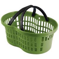 Garvey BSKT-56002 20 inch x 13 3/4 inch x 8 inch Green Market Shopping Flexi-Basket - 12/Pack