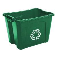 Rubbermaid FG571473GRN 14 Gallon Green Curbside Recycling Bin