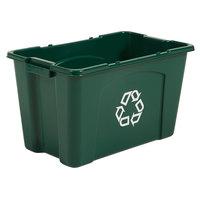 Rubbermaid FG571873GRN 18 Gallon Green Curbside Recycling Bin