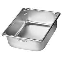 Vollrath 5IPH40 Super Pan V® 1/2-Size 4 inch Deep Anti-Jam Stainless Steel Induction Hotel Pan - 22 Gauge
