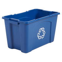 Rubbermaid FG571873BLUE 18 Gallon Blue Curbside Recycling Bin