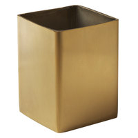 American Metalcraft GSPT5 2 inch Square Gold Satin Finish Stainless Steel Sugar Packet / Cube Holder