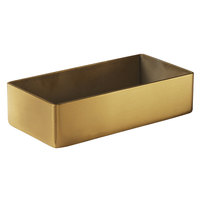 American Metalcraft GPT3 4 1/4 inch x 2 1/4 inch Rectangular Gold Satin Finish Stainless Steel Sugar Packet / Cube Holder