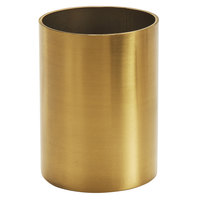 American Metalcraft GSPH2 2 inch x 2 3/4 inch Gold Satin Finish Stainless Steel Round Sugar Packet / Cube Holder