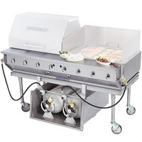 Bakers Pride CBBQ-60S-CP Natural Gas 60 inch Ultimate Outdoor Charbroiler with Tank Caddy and Grill Cover Accessories