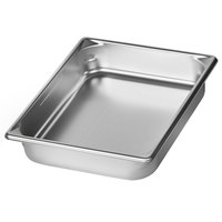 Vollrath 5IPH25 Super Pan V® 1/2 Size 2 1/2 inch Deep Anti-Jam Stainless Steel Induction Hotel Pan - 22 Gauge