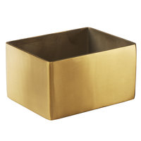 American Metalcraft GSPH4 3 1/4 inch x 2 3/4 inch Gold Stainless Steel Rectangular Sugar Caddy