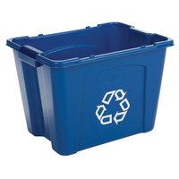 Rubbermaid FG571473BLUE 14 Gallon Blue Curbside Recycling Bin