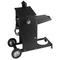 Backyard Pro BPM4G 4 Gallon Steel Liquid Propane Outdoor Deep Fryer with Mobile Stand - 90,000 BTU
