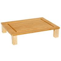 GET Enterprises BCB-HSLD-BAM Curator 13 inch x 10 1/2 inch Bamboo Half Size Solid Cutting Board