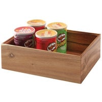 GET Enterprises WB-664WD-UR Urban Renewal 6 inch x 6 inch x 4 inch Urban Rustic Square Wood Display Box