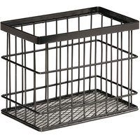 GET Enterprises WB-745-MG Urban Renewal 7 inch x 4 1/4 inch x 5 1/2 inch Metal Gray Rectangular Wire Basket