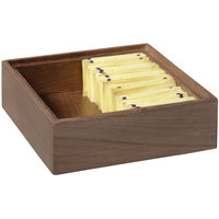 GET Enterprises WB-662WD-GA Urban Renewal 6 inch x 6 inch x 2 inch Gray Ash Square Wood Display Box