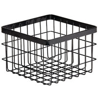 GET Enterprises WB-664-MG Urban Renewal 6 inch 6 inch x 4 inch Metal Gray Square Wire Basket