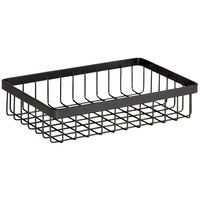 GET Enterprises WB-962-MG Urban Renewal 9 inch x 6 inch x 2 inch Metal Gray Rectangular Wire Basket