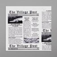Get Enterprises 4-T3000 7 inch x 7 inch Village Post Newsprint Double-Open Bag - 2000/Case